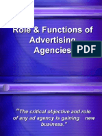 Role & Functions of Advt Agencies