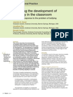 Fostering the Development of Empathy in the Classroom