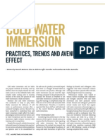 Cold Water Immersion - Practices, Trends and Avenues of Effect