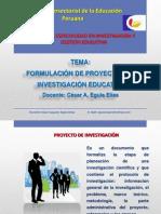 Curso de Formulación de Proyectos de Investigación Educativa 2015