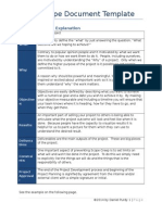 scope document template