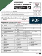 FATA_FormA - Bajaur Agency, NTS Forms
