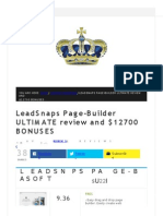 Leadsnaps preview information and huge bonus pack