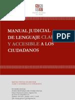 Manual Judicial de Lenguaje Claro y Accesible