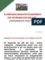 Lesiones Mas Frecuentes en El Deporte de AR