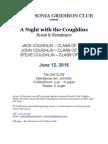 Flyer for Coughlin Book