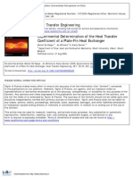 Experimental Determination of the Heat Transfer Coefficient of a Plate-Fin