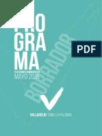 Borrador Programa Valladolid Toma La Palabra 2015