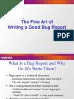 Good Bug Reporting