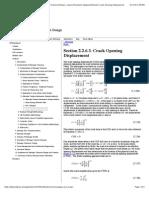 DTDHandbook {% Fundamentals of Damage Tolerance {% Fracture Mechanics Fundamentals {% Alternate Fracture Mechanics Analysis Methods {% Crack Opening Displacement