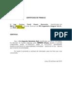 Certificado de Trabajo Ipg