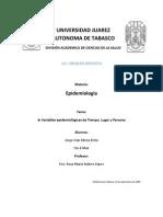 Variables Epidemiologicas de Tiempo, Lugar y Persona