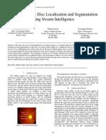 Automatic Optic Disc Localization and Segmentation using Swarm Intelligence