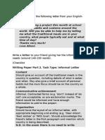 FCE letter sample