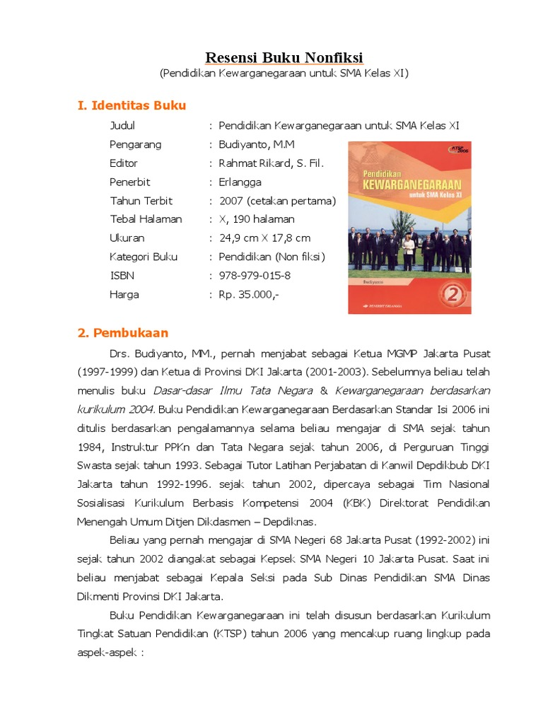 Great Cara Membuat Resensi Buku Pdf Ideas - The Best Curriculum ...