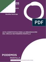 Acta Organizativa Para Validación Del Círculo