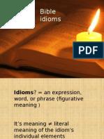 Bible Idioms