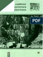 Cuadernos de Arquitectura Mesoamericana 10. 1987
