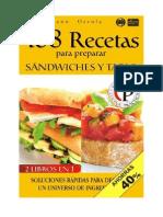 168 Recetas Para Preparar Sandwiches y Tapas