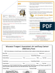 23rd Annual Troopers' Essay Contest