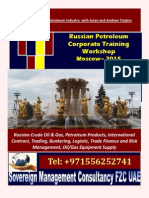 Russian Petroleum Corporate Training Workshop Moscow– 2015