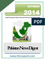 Pakistan News Digest October - 2014