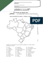 Atividade Geografia o Brasil