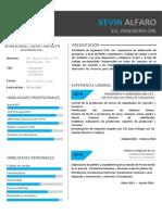 CV- Alfaro Amoretti, Kevin