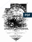 Strauss Johann Sohn - Voices of Spring Op 410 Piano Solo