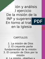 Revisión y Analisis del trabajo de la misión en México