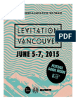 Levitation Vancouver 2015 Festival Pullout Guide — Published by BeatRoute Magazine