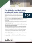 2013 Transfer Student Attitudes Report