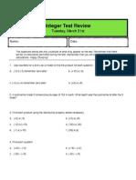 integer test review - pdf