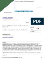 Avaliação Psicológica - O Teste de Pfister e o Transtorno Dissociativo de Identidade (2)