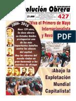 Semanario Revolución Obrera Edición No. 427