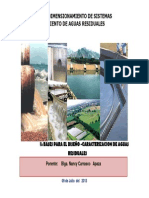 Bases Para El Diseño Caracterización de Aguas Residuales