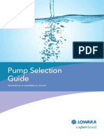 BROCHURE Xylem - Pump Selection Guide 0412