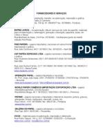 Fornecedores e Serviços 2015