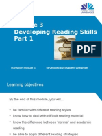 Module 3 - Developing Reading Skills Part 1