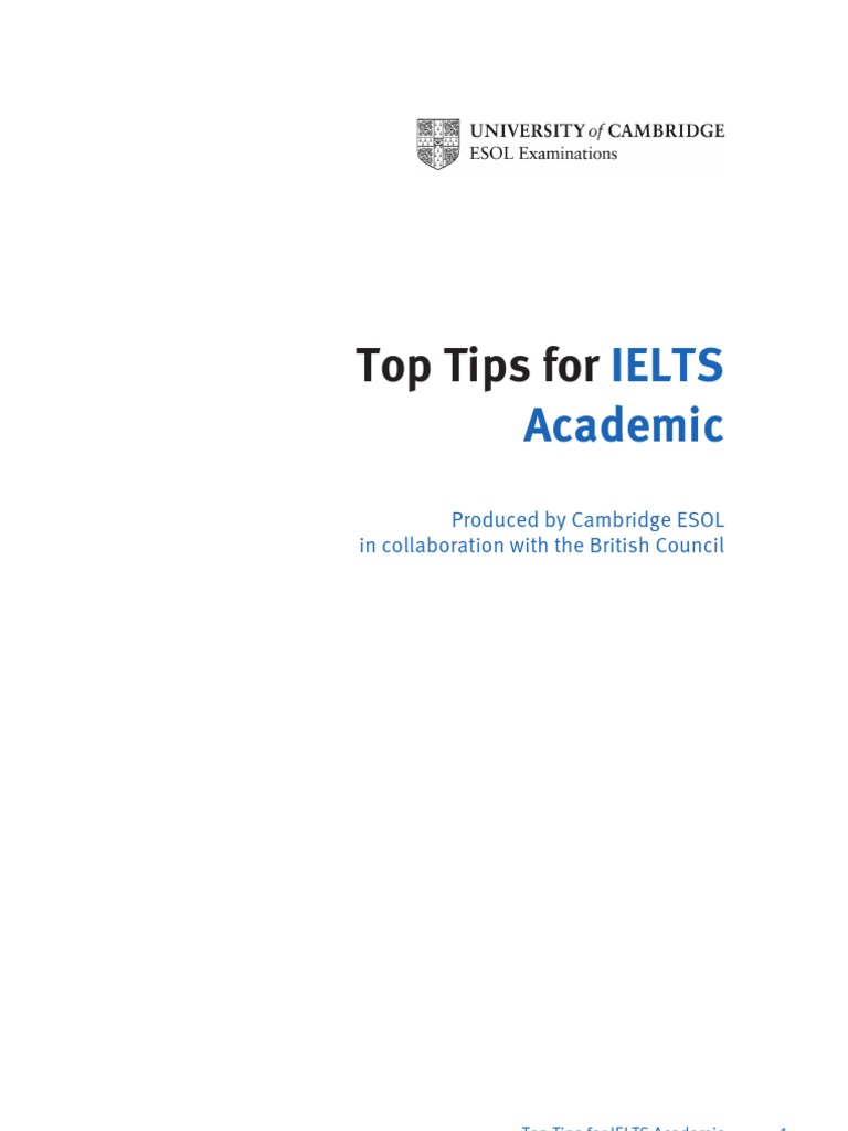 ielts top book for tips academic