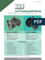 Flo-Tite Flanged Floating Ball Valves