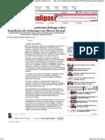 03-05-15 Iniciativa privada fronteriza dialoga sobre beneficios de Reformas con Marco Bernal