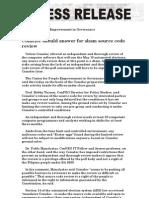 CenPEG PRESS RELEASE Comelec Source Code Feb 5 2010
