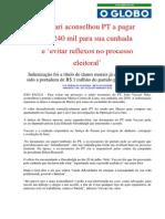 Vaccari aconselhou PT a pagar R$ 240 mil para sua cunhada (bancoop)