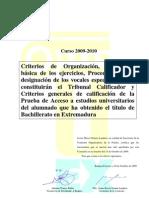 Criterios Generales Pau Uex 2010