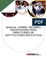 Manual Sobre Régimen Disciplinario Para Directores de Instituciones Educativas