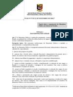 Lei Organica Do Ministerio Publico Da PB