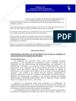 ANALISIS DE LOS CAMBIOS EN EL CURRICULO DE EDUCACIÓN FISICA