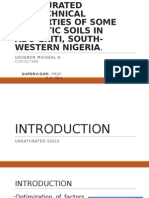 Assessment of Unsaturated Geotechnical Properties of Tropical Soil in Southwestern Nigeria