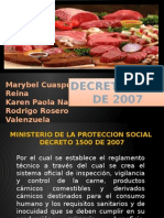 Exposiscion Decreto 1500 de 2007